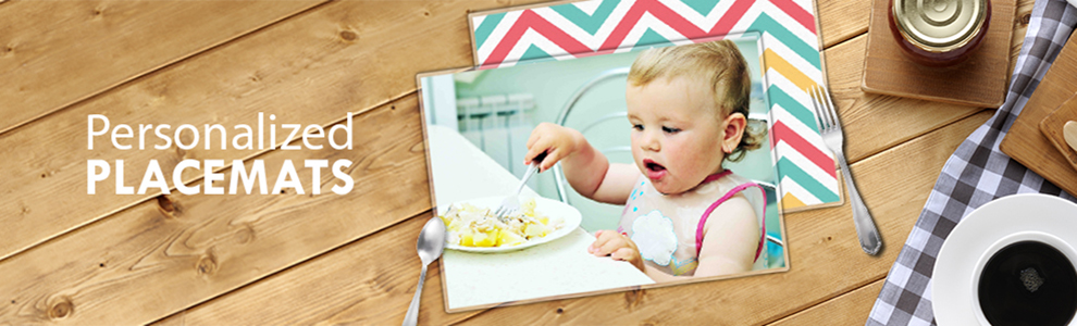 personalized placemats printed with your design