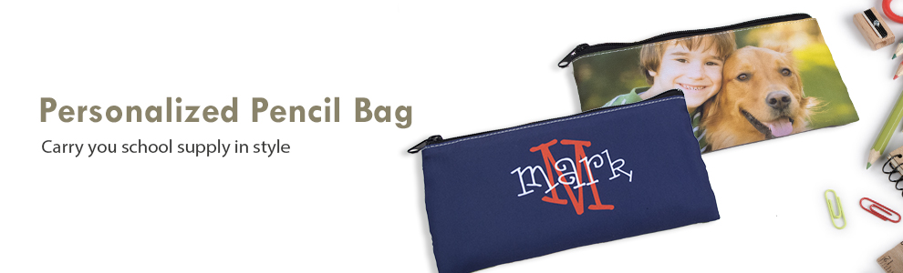Personalized Polyester Pencil Bags