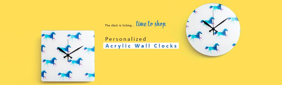 Personalized Acrylic Wall Clock