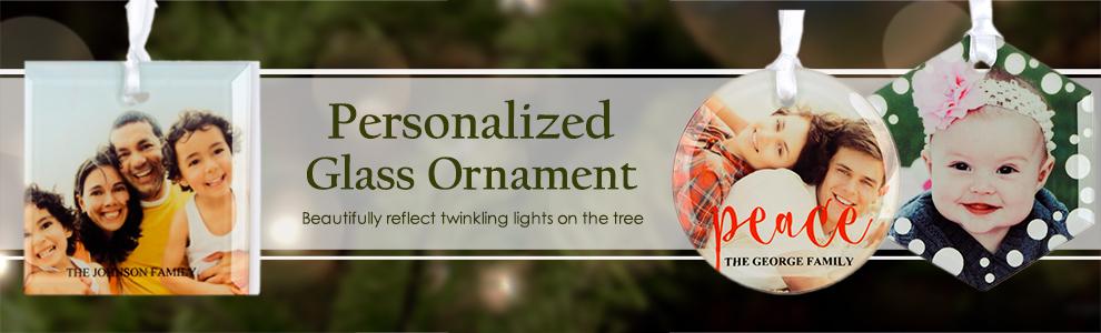 Custom Glass Print Ornaments