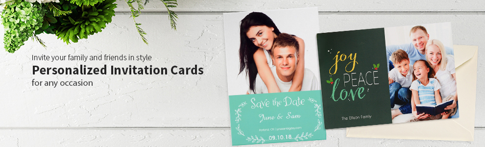 Personalized Stationery Photo Invitation Cards