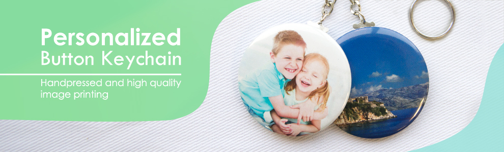 Personalized Button Keychains