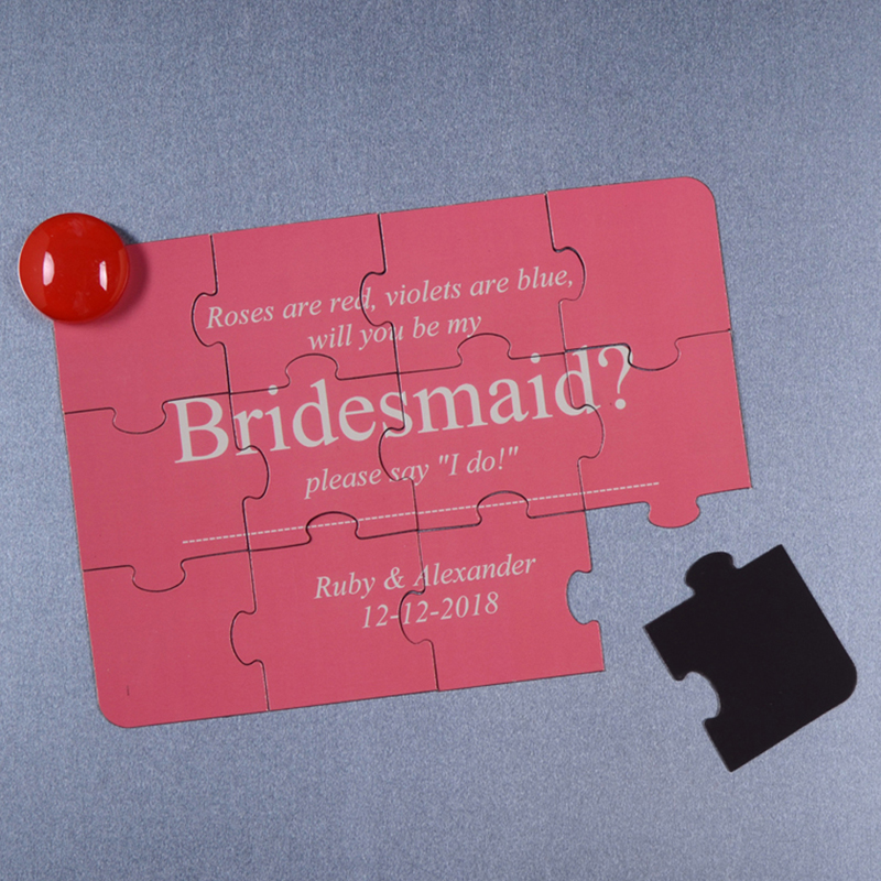 Will you be my Bridesmaid Magnetic Small Puzzle Card