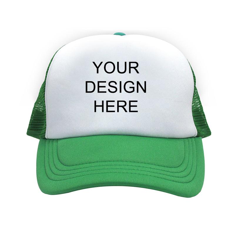 Custom Design Full Color Print Green Trucker Hat af9bfefc7