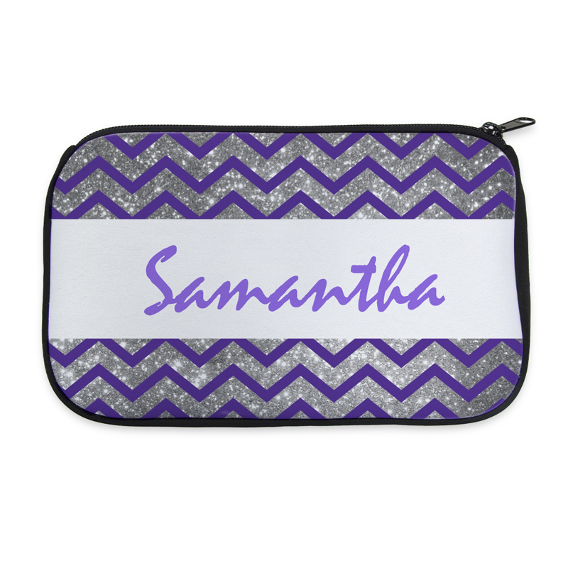 77ee6250e380 Personalized Neoprene Simple Chevron Cosmetic Bag (6 X 10 Inch)