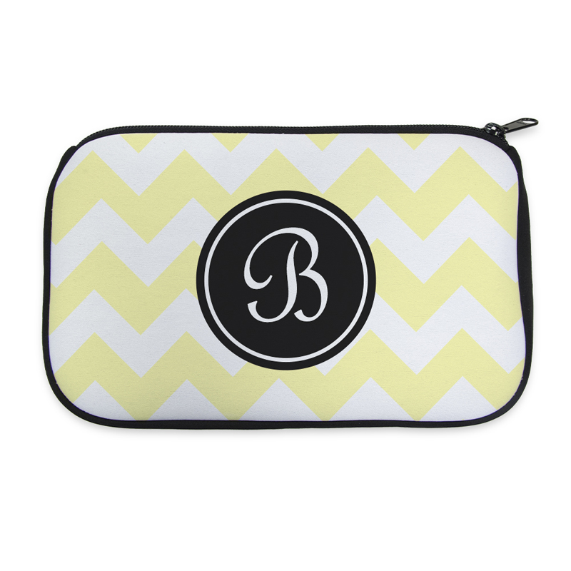 ef6ffafbb5f0 Personalized Neoprene Classic Chevron Cosmetic Bag (6 X 10 Inch)
