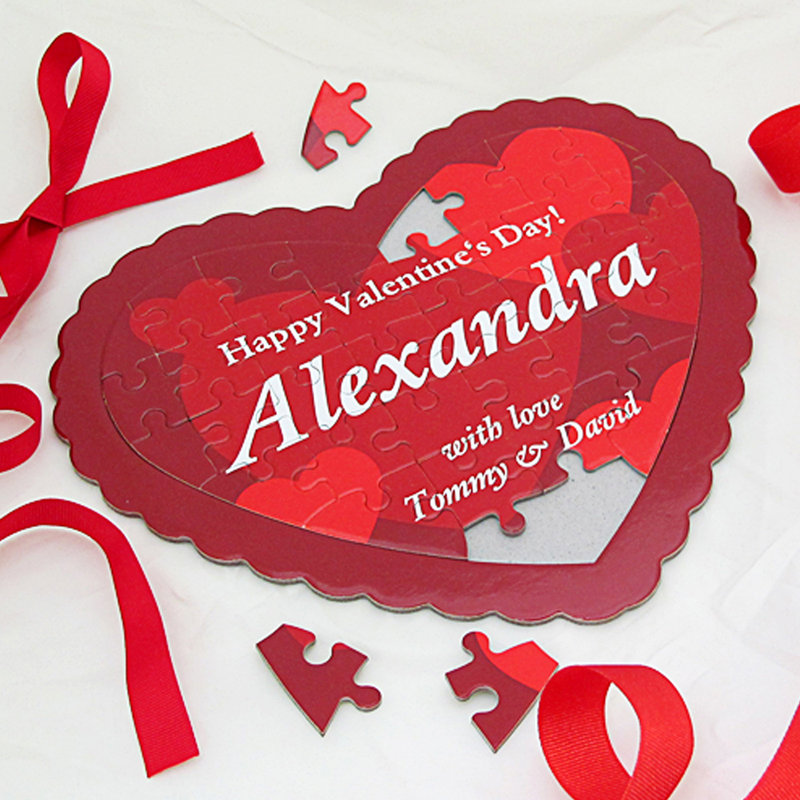Love You Deeply Personalized Message Heart Jigsaw Puzzle