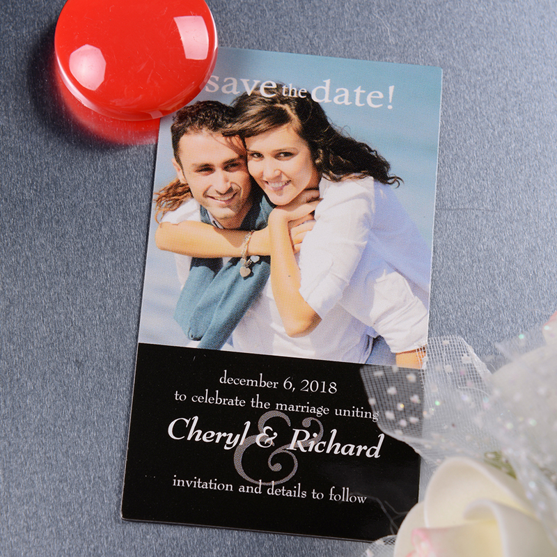 Card Size Best Date Ever Save The Date Magnet Black