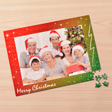 Personalized Merry Christmas 12X16.5 Jigsaw Puzzle