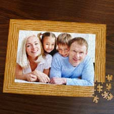 Personalized Raw Border 12X16.5 Jigsaw Puzzle