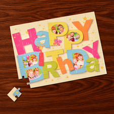 Personalized Happy Birthday 12X16.5 Jigsaw Puzzle