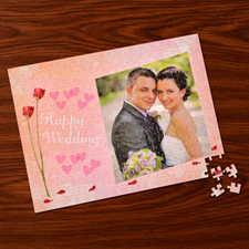 Custom Large Photo Jigsaw Puzzle, Rosy Wedding