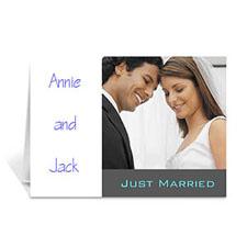 Classic White Wedding Photo Cards, 5x7 Folded Modern