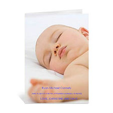 Personalized Baby Photo Cards, 5X7 Portrait Folded