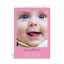 Personalized Baby Pink Greeting Cards