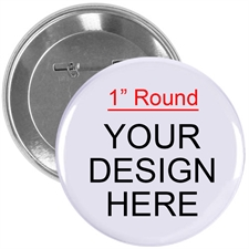Full Color Imprint Custom Button Pin, 1
