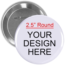 Full Color Imprint Custom Button Pin, 2.25