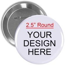 Full Color Imprint Custom Button Pin, 2.25