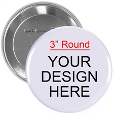 Full Color Imprint Custom Button Pin, 3