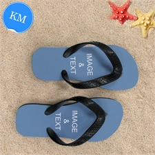 Design My Own One Landscape Image Kids Medium Flip Flops