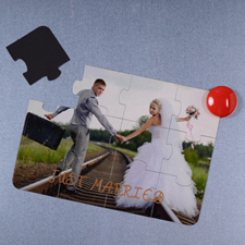 Personalized Magnetic Just Married Invitation Puzzle