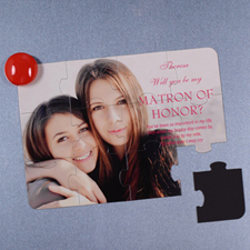 Personalized Magnetic Photo Will You Be My Bridesmaid Invitation Puzzle