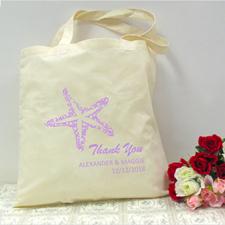 Personalized Lavender Starfish Beach Lover Wedding
