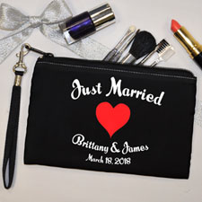 Personalized I Heart My Bridesmaid Wristlet