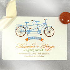 Custom Tandem Bicycle 4x6 Large Wedding Magnet