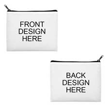 Print Your Own 2 Side Different Images Black Zipper Bag (8 X 10 Inch)