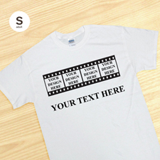 Custom Film Memories White Adult Small T Shirt