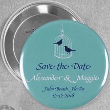 Love Birds Vintage Case Custom Button Pin, 3