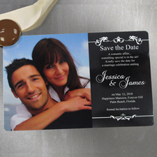 Celebrated Scrolls 4x6 Large Save The Date Magnet