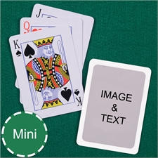 Mini Size Playing Cards Standard Index White Border