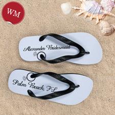 Make My Own Engagement Ring Grey Women Medium Flip Flop Sandals