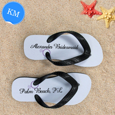 Design My Own Lavender Wedding Ring Personalized, Kids, Medium Flip Flops