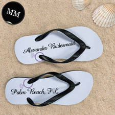 Design My Own Lavender Wedding Ring Personalized Flip Flops, Men Medium