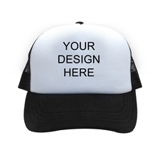 Custom Imprint Full Color Trucker Hat, Black