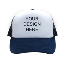 Custom Imprint Full Color Trucker Hat, Navy