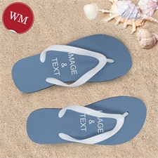 Create My Own One Landscape Image Women Medium Flip Flop Sandals