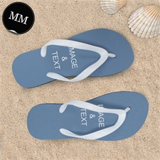 Design My Own One Landscape Image Men Medium Flip Flop Sandals