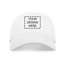 Custom Full Color Print Baseball Cap, White