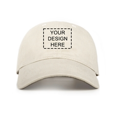 Custom Full Color Print Baseball Cap, Light Khaki