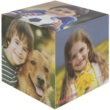 Personalized Wood Photo Cube, 5 Panels