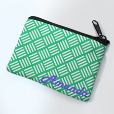 Personalized Mint Wave Small Coin Purse (3.5