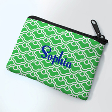 Personalized Forest Green Scallop Small Coin Purse (3.5