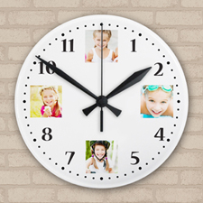 Precious Memories Collage Acrylic Clock Custom Printed