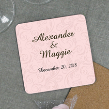 Pink Swirl Pattern Engagement Personalized