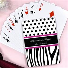 Polka Dots Zebra Print Wedding Personalized