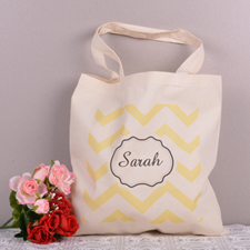 Yellow Chevron Personalized Words